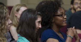 Students listen attentively in an Academic Foundations class.